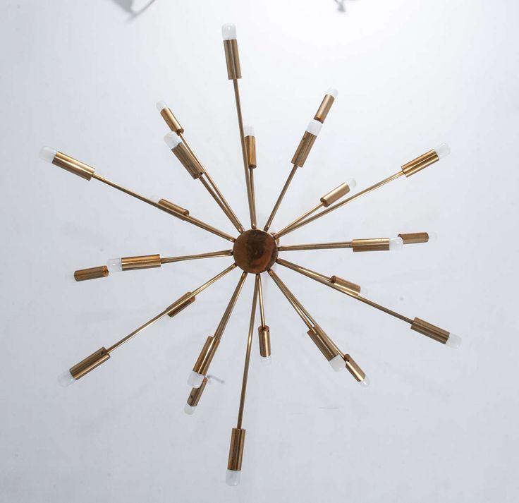 Gino Sarfatti Sputnik Chandelier, Original, from underneath  1stdibs.com