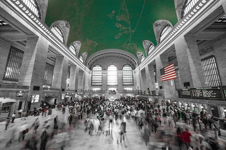 Grand central station. A frame from my timelapse documentary