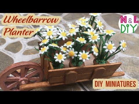 DIY Miniature Wheelbarrow Planter - YouTube