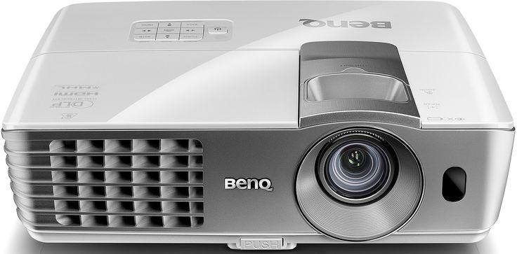 W1070+ / DLP DC3 DMD, 1080P Full HD Video Projector, Brightness 2200 AL, High contrast ratio 10,000:1, 1.3X zoom, Short