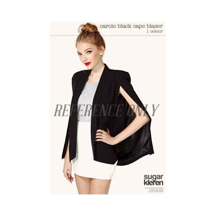 JK402-LOCAL Black Cape Blazer Wedges High Quality Condition  New  JK402-LOCAL Cape blazer hitam all size fit S-L material wedges high quality ret140 res105 gro91