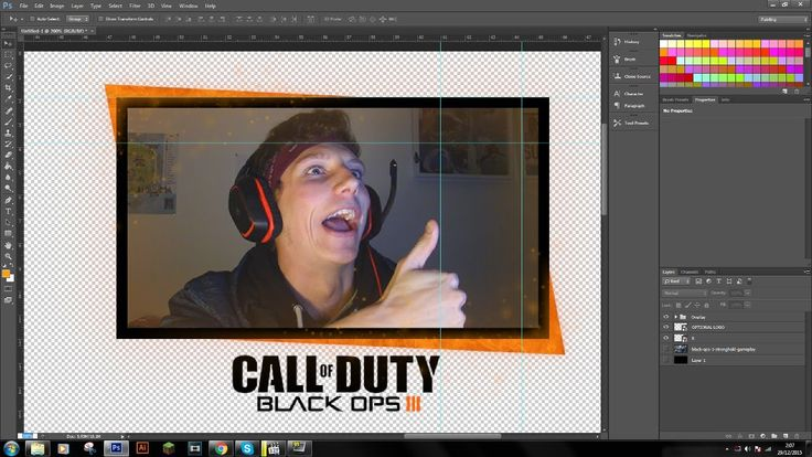 Black Ops 3 Facecam Border/Overlay (FREE DOWNLOAD ...