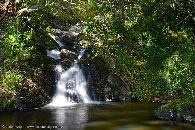 Wairere Waterfall near Whakatane town. credit: www.colourandlight.co.nz