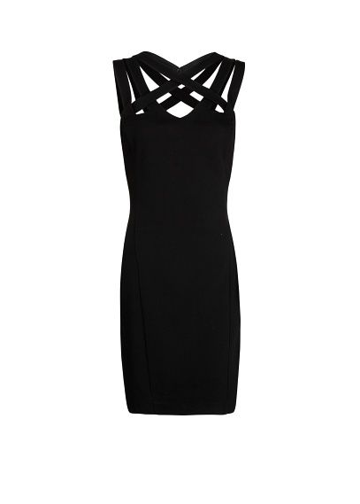 MANGO - Cross strap bodycon dress