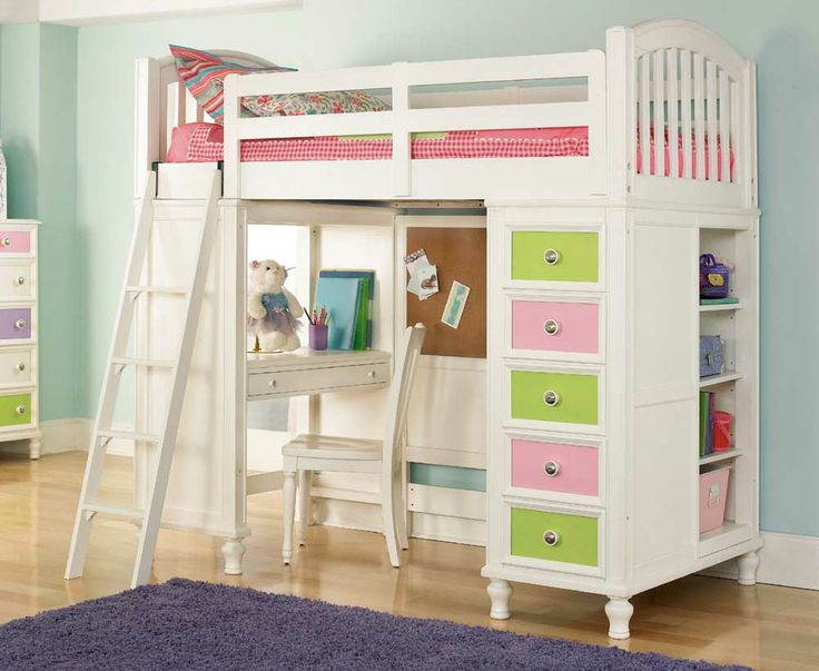Pawsitively Yours Twin Loft Bed With Desk Base And Chest