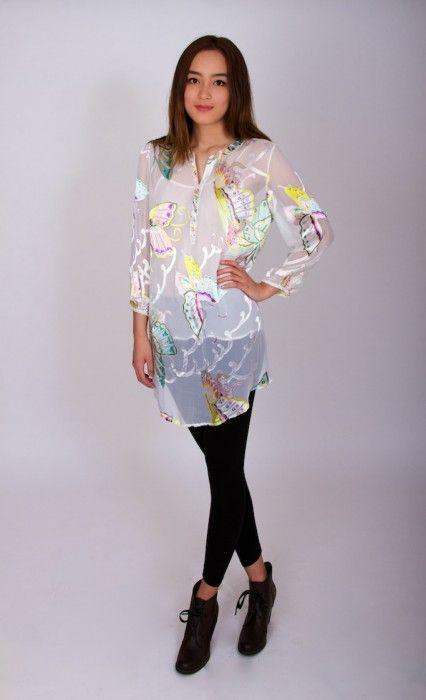 Madame Butterfly – V neck (sheer silk)