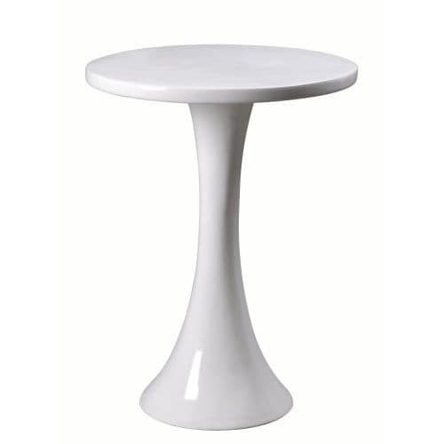 Kenroy Home 65012 Snowbird 24.25 Tall Accent Table, Gloss White