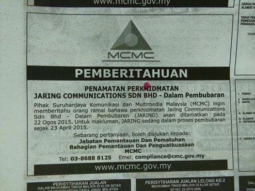 Masih Ingat Lagi Dengan Jaring? Kini Communications Sdn Bhd Dibubarkan Atas Arahan Mahkamah