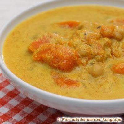 Nóri mindenmentes konyhája: Kókuszos sütőtök-curry csicseriborsóval