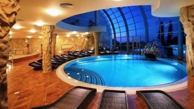 Surviving doesn't mean scrimping on luxury, as the pool inside Vivos Europa One proves.