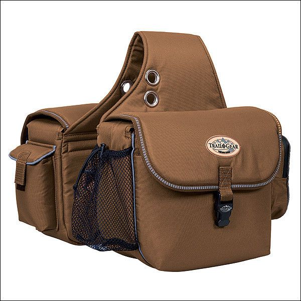 Weaver Brown 600d Polyester Trail Gear Horse Saddle Bag Western Tack Saddle Bags Horse Equestrian Outfits Saddle Bags