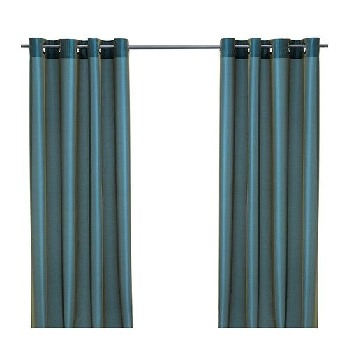 PÄRLBUSKE Curtains, 1 pair  - IKEA