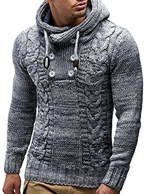 LEIF NELSON cardigan Chaqueta hombres tejer su_ter LN20227 Chaqueta