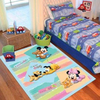 Mickey, Minnie si Pluto vor devenii partenerii de joaca preferati ai copilului tau! Covorul pentru copii Disney Babyes 313 are culori vibrante, rezistente in timp si personaje jucause care iti vor incanta copilul.