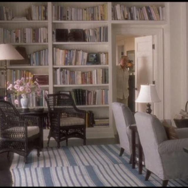 Somethings Gotta Give Movie House Living Room Shelves