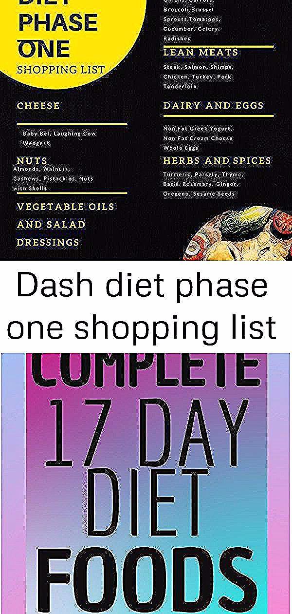 Dash Diet Phase One Shopping List The Best Dash Diet