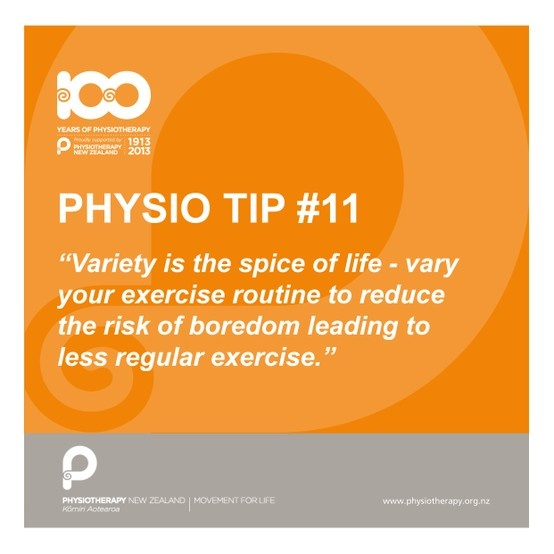 Variety is the spice of life #100years #physiotips