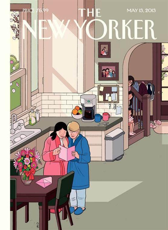 The New Yorker - Festa della mamma by Chris Ware #grafica #cover #illustrazione