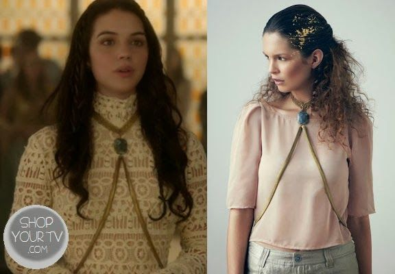 Mary Queen of Scots (Adelaide Kane) wears this Labradorite body chain in this week's episode of Reign.
