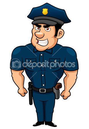 Dibujo animado. Policía.