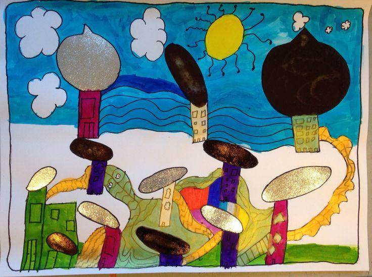 Geïnspireerd door Hundertwasser.