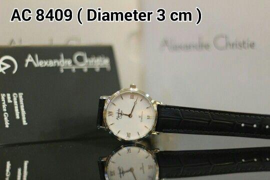ALEXANDRE CHRISTIE 8409 Harga IDR 800.000 Material : Leather black - ring silver Diameter 3 cm Garansi mesin 1 tahun international