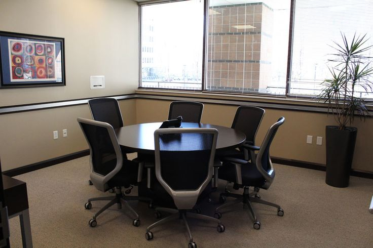 Heyl Royster Peoria IL Small Meeting Space Furniture By Widmer Interiors