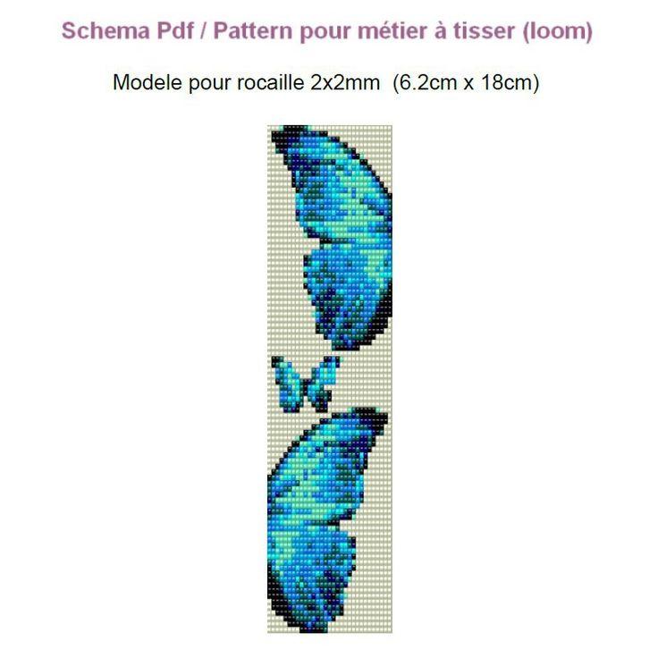 Schema pattern modele pdf bracelet à tisser en rocaille 2x2mm mod8