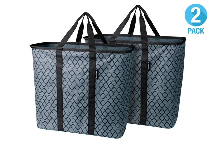 SnapBasket LaundryCaddy - Collapsible Laundry Basket & Hamper, Holds 2 Loads