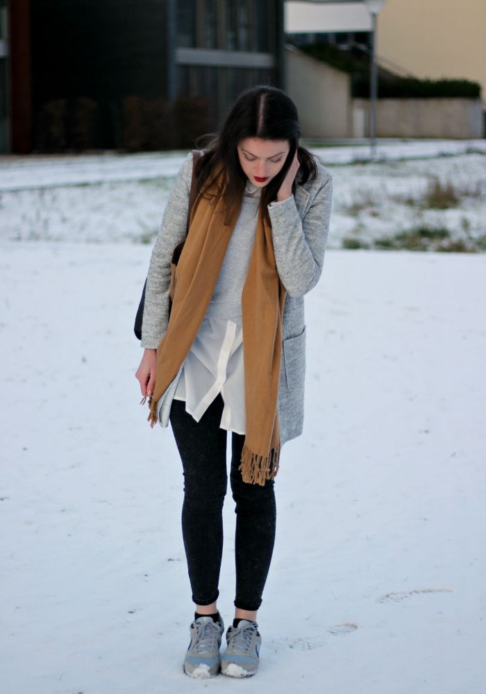 Modeblog Outfit layering grau