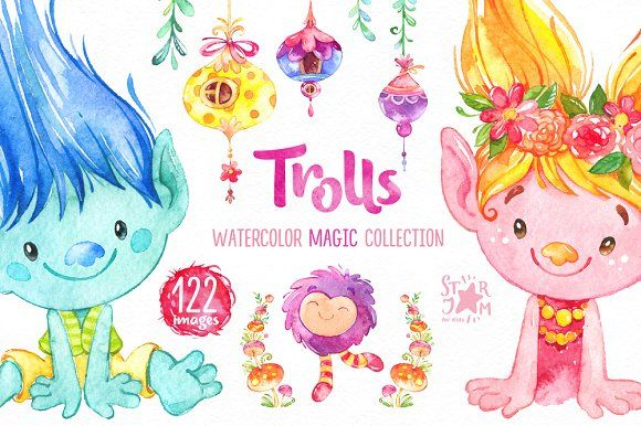 Trolls. Magic Collection by StarJam on @creativemarket