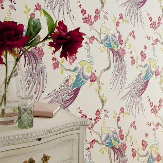 Showstoppers Collection -  Indira design by Clarke & Clarke.  Available in 3 stunning colours.  Wallpapershop.com.au