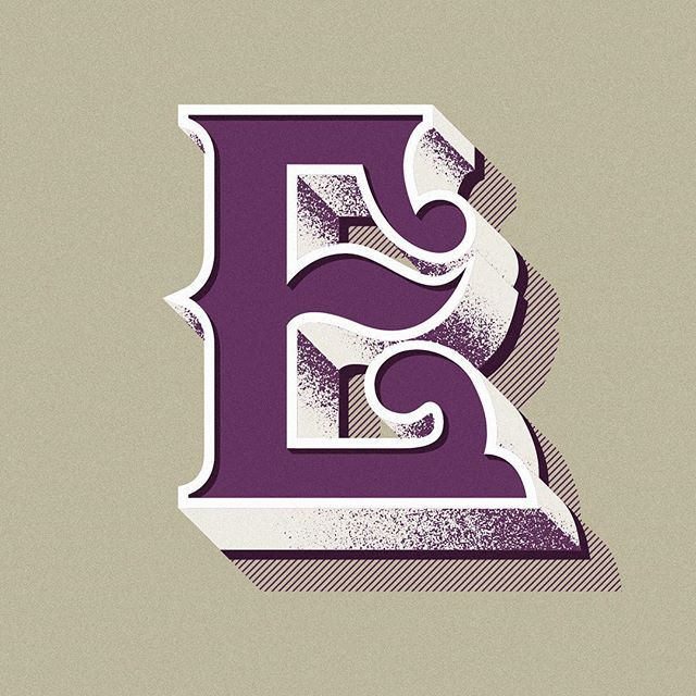 Capital letter E. Study for a new personal project...stay tuned!