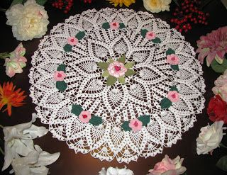 Krone Crochet: Brand new off white (natural white) crochet doily ...
