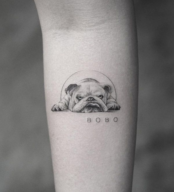 40+ Cute Dog Tattoo Ideas