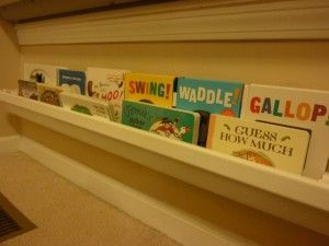 So want to do this for Cadie's room!  Rain Gutter shelves