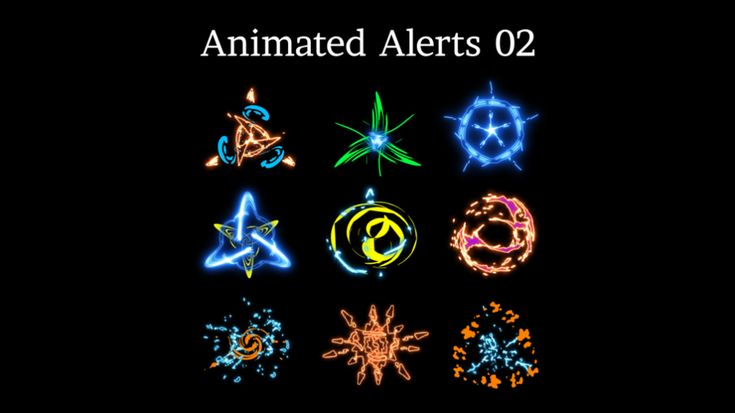 Animated Stream Alerts 02 with Sound Effects Sound