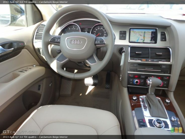 cardamom beige interior dashboard for the 2013 audi q7 3 0 tdi denenecek projeler. Black Bedroom Furniture Sets. Home Design Ideas