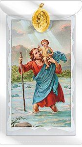 St Christopher Prayer Card.
