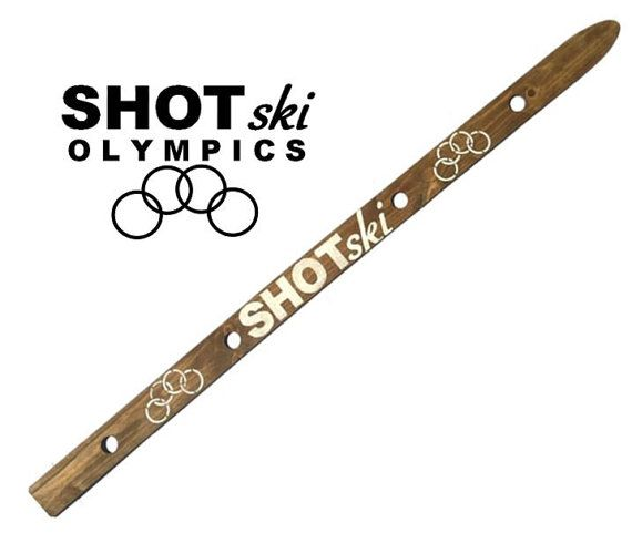 Shot Ski SHOTSKI Olympics Take 4 Shots Together by ShotSkiShop  #olympics #olympicgames #drinkingolympics #boozolympics #shotski #drinks #drinkinggames #wwhl #andycohen #realitytv #winterolympics #summerolympics #olympicsparty #weekend