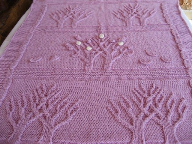Free Knitting Pattern For Tree Of Life Baby Blanket : ????????? ?????????????: ?? ?????? ??? ???? !!!! Tree of Life !!!! Baby knitt...