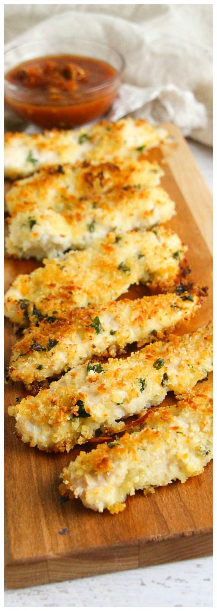 Baked Parmesan Crusted Chicken Fingers Recipe - Delicious Dinner!