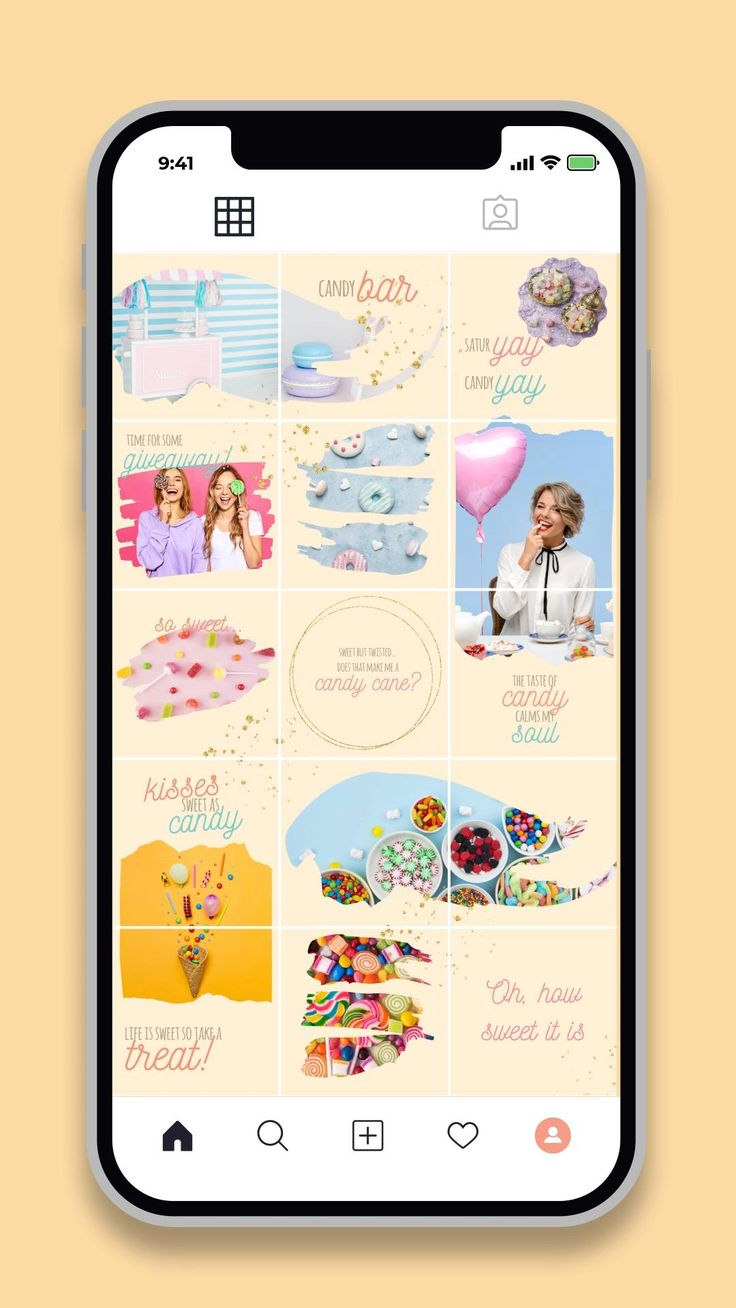 Candy instagram puzzle feed 30 instagram posts canva