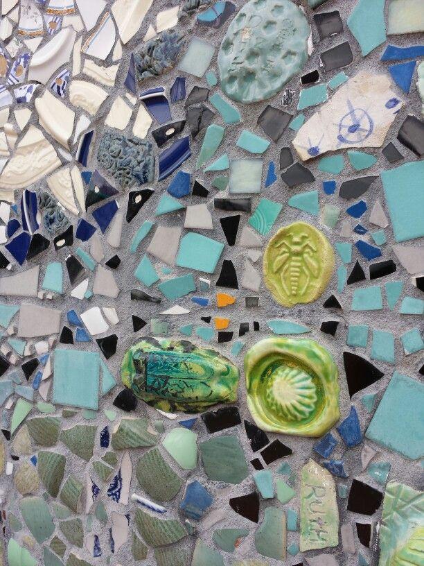 Mosaic wall at the #Charlotte #NC Trolley station.