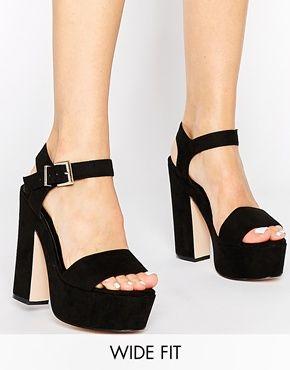 Sandalias de tacón de corte ancho HIGHLIGHT de ASOS