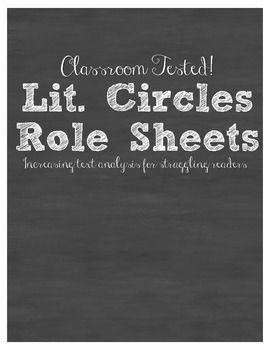 literature circle roles high school pdf