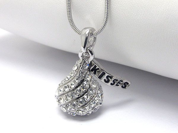 The 26 best images about hersheys on pinterest ballet garlic hershey kisses chocolate crystal stud necklace mozeypictures Image collections
