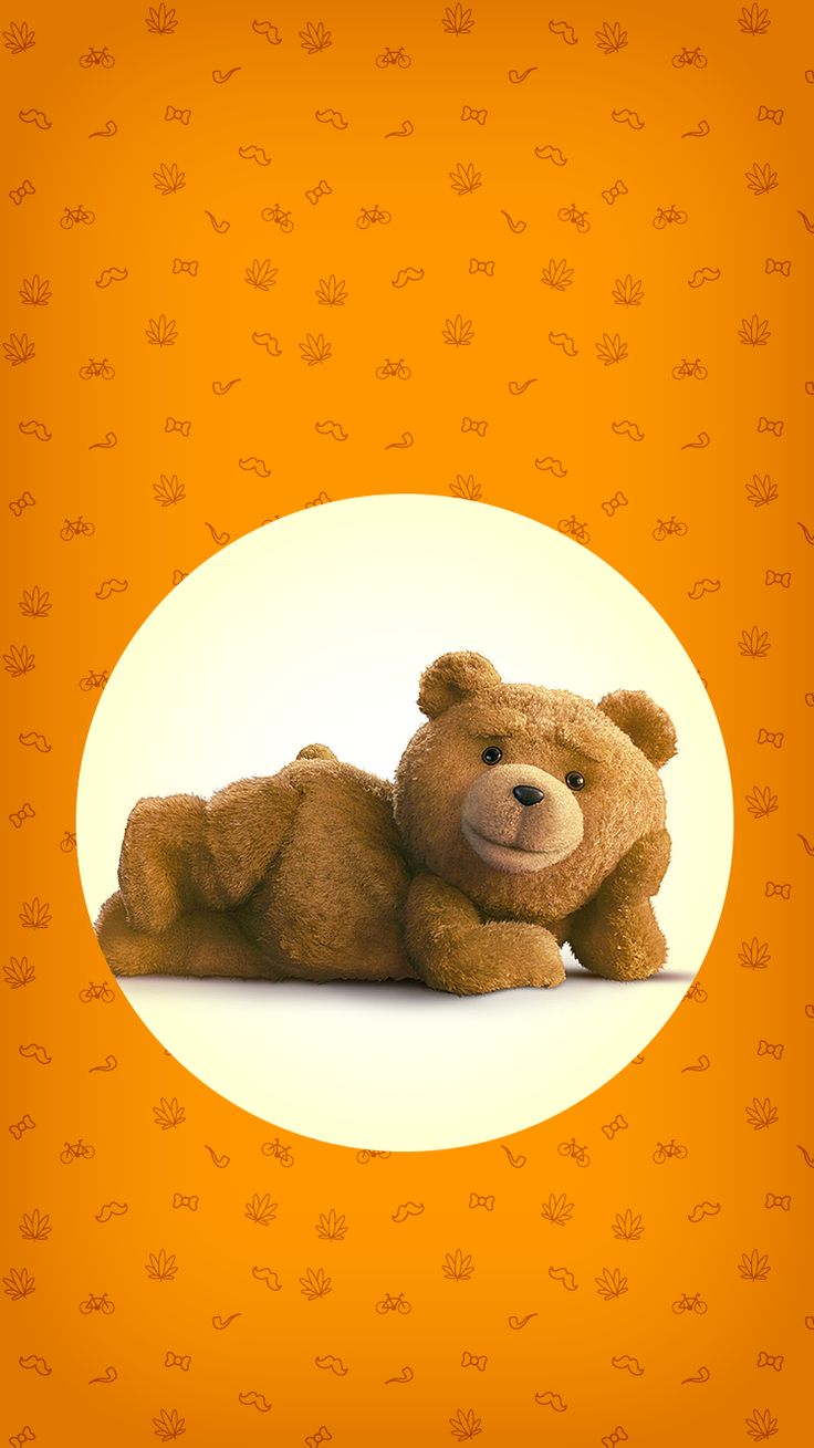 ↑↑TAP AND GET THE FREE APP! Lockscreens Art Creative Bear Ted 2 Is Coming Fun Movie Cinema Orange Circle HD iPhone 6 Lock Screen