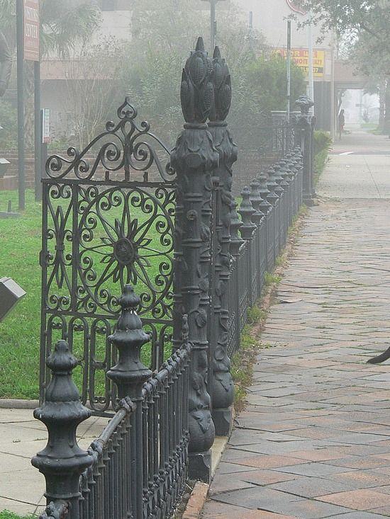 wrought iron gate at Ashton Villa, Galveston