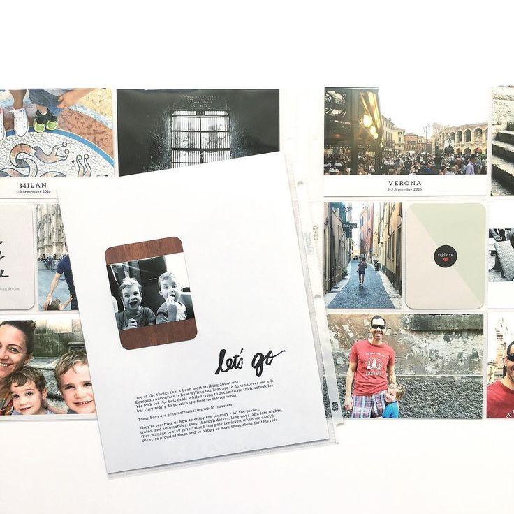 111 отметок «Нравится», 7 комментариев — Catherine Saunders (@catsaunders) в Instagram: «My photo album formula: #paisleepress templates & word art, #projectlife pockets & kit, lots of…»